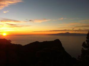 Tamadaba puesta de sol